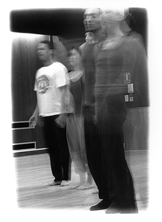 Dance Workshop 1 (2000), b/w photograph