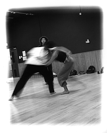 Dance Workshop 2 (2000), b/w photograph