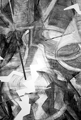 Stroke Unit - Lamps - detail 10 (2009), charcoal on paper